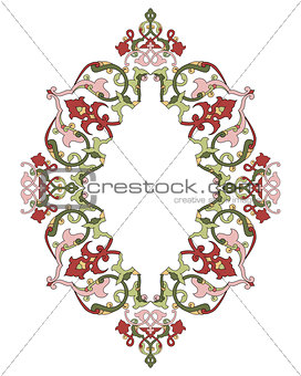 Antique ottoman turkish pattern vector design thirty six