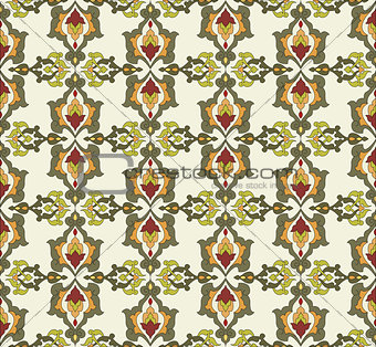 Antique ottoman turkish pattern vector design thirty two