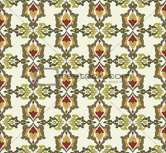 Antique ottoman turkish pattern vector design thirty two