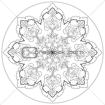 Antique ottoman turkish pattern vector design thirty
