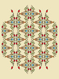 Antique ottoman turkish pattern vector design twelve