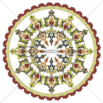 Antique ottoman turkish pattern vector design twenty eight