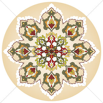 Antique ottoman turkish pattern vector design twenty nine