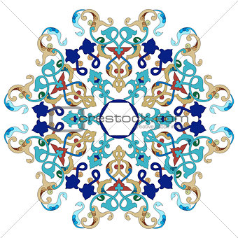 Antique ottoman turkish pattern vector design twenty one