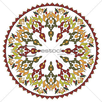 Antique ottoman turkish pattern vector design twenty seven