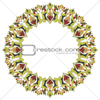 Antique ottoman turkish pattern vector design twenty six