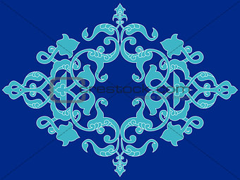 Antique ottoman turkish pattern vector design twenty three