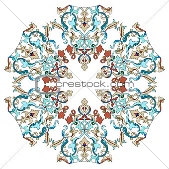 Antique ottoman turkish pattern vector design twenty two