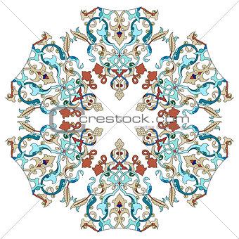 Antique ottoman turkish pattern vector design twenty two