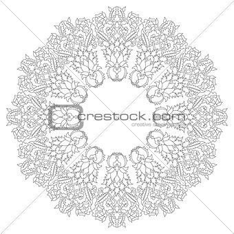 Antique ottoman turkish pattern vector design twenty
