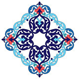 Antique ottoman turkish pattern vector design two