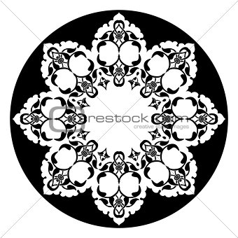 Antique ottoman turkish vector design eight