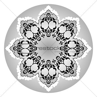 Antique ottoman turkish vector design eleven