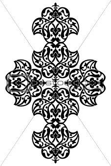 Antique ottoman turkish vector design one
