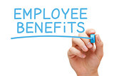 Employee Benefits Blue Marker