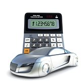 Car and calculator