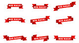big sale banner ribbons