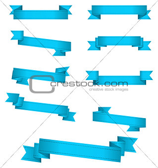 blue banner ribbons
