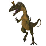Cryolophosaurus Dinosaur on White