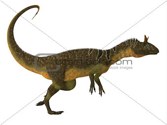 Cryolophosaurus Dinosaur Side View