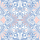 vector seamless Greek floral ornament, Meander