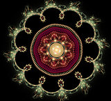 Abstract fractal fantasy round pattern and shapes.