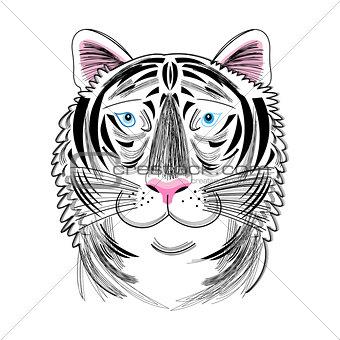 portrait of tiger