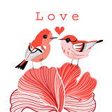 graphic love birds