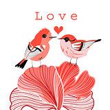 graphic love birds