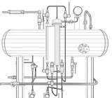 Scetch of heat exchanger on white