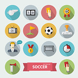 Vector soccer icons