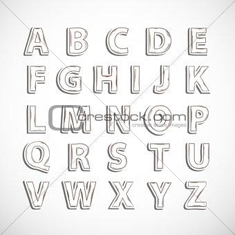 Alphabet letter set