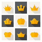 Golden crowns icons