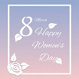 happy womens day design, vector illustration