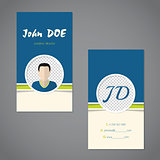 Business card set with sample photo