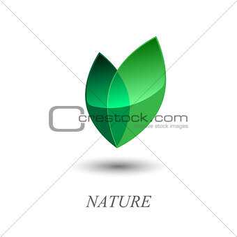 Green leaves logo.