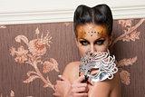 girl with make-up and mask