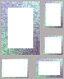 Pixel mosaic page border frame set