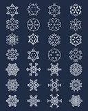 white snowflakes 28