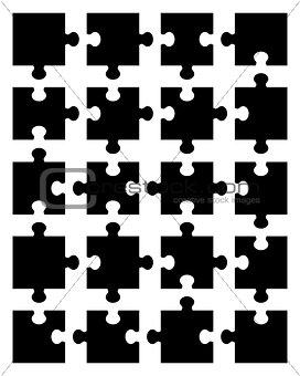 black puzzle 20