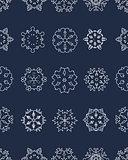 Seamless of snowflakes
