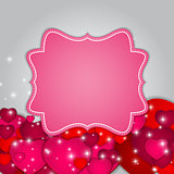 St Valentines  Day Greeting Card Vector Illustration
