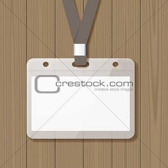 Blank badge mock up