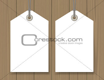 Blank sale tags mock up