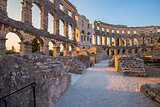 Ancient Roman Amphitheater in Pula, Croatia
