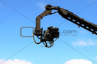 Camera on crane shooting