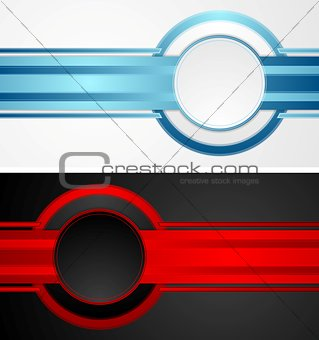 Abstract tech corporate banners