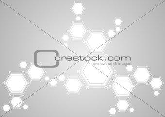 Molecular structure abstract tech light background