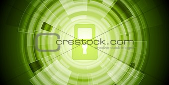 Abstract green tech security background