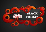 Black friday abstract background